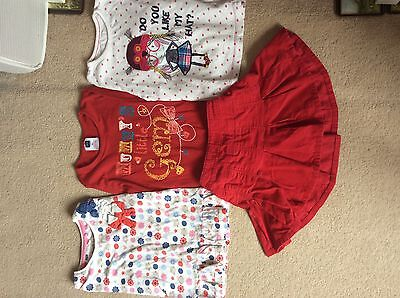 Christmas Girls bundle: 3 tops, 1 skirt Age 2-3 years old in good used condition