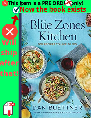 The Blue Zones Kitchen: 100 Recipes to Live to 100 Hardcove (black friday, 2019)