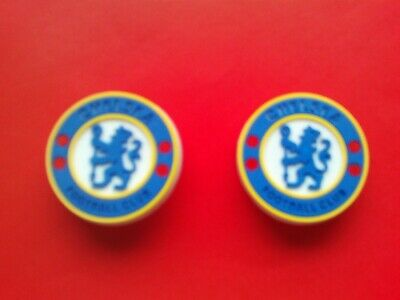 2 New Chelsea Football Badges Logos jibbitz croc shoe charms band cake toppers