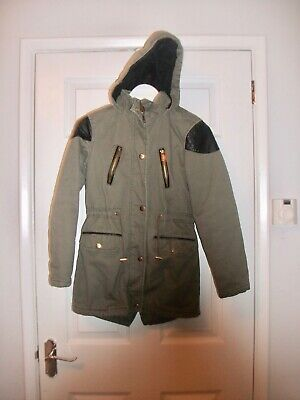 New Look Girls Olive Green Parka Style Coat  Age 10-11  Years