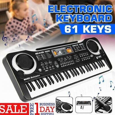 61 Keys Digital Electric Piano Music Electronic Keyboard Organ Mini Microphone M