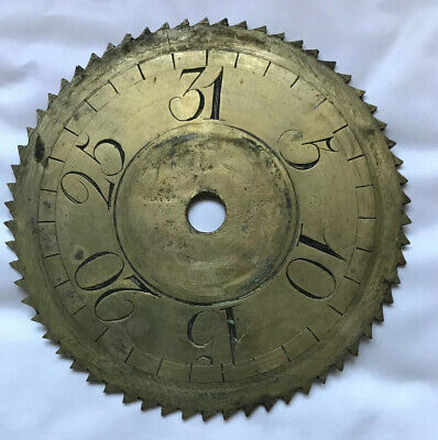Antique Long case clock Brass  Date  Wheel