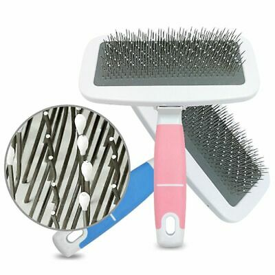 Non-slip Handle Shedding Pet Dogs Cats Pin Hair Brush Comb Fur Grooming Trimmer
