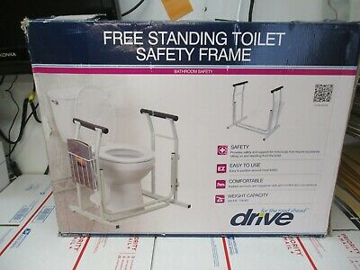 Drive Medical Free Standing Toilet Safety Frame With Armrest New Fast Shipping