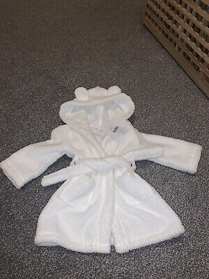The Little White Company Dressing Gown 6-12m 99p No Reserve