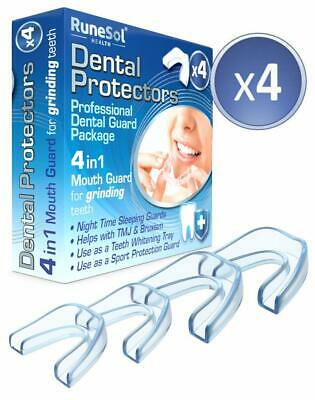 4 x Gouttiere dentaire bruxisme moulage des dents, sans BPA  grincement de dents