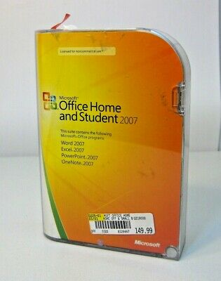 Full Version 2007 Microsoft Office Home and Student (W/ Product Key) Windows PC
