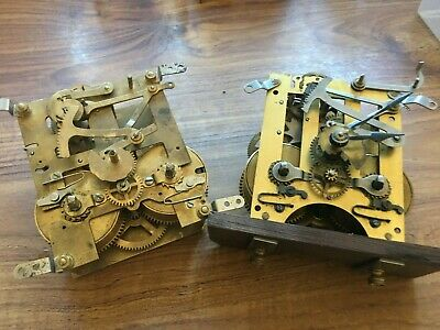 2 Old Clock Movements For Spares Or Repairs
