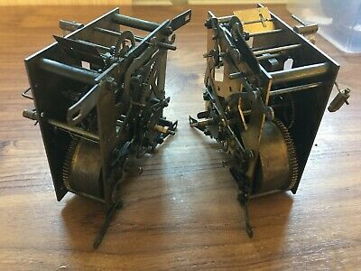 2 DRGM Old  Clock Movement For Spares Or Repairs