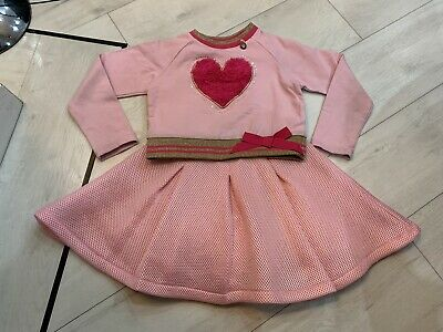 Girls Designer A Dee Outfit Dress & Jumper Age 5 Years Good Condition