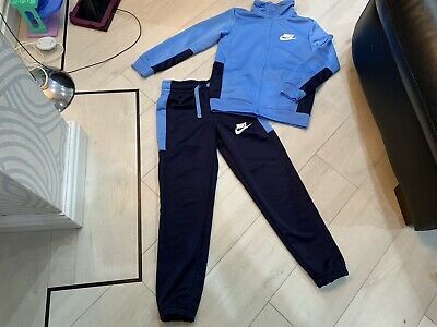 Boys Blue/navy Nike Tracksuit Age 8/10 Years Vgc
