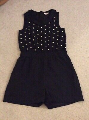 Girl's Shorts Smart Playsuit - Age 11Yrs - Blue Zoo - Excellent Condition