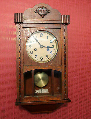 Antique Wall Clock Chime Clock Regulator 1920th * PFEILKREUTZ *