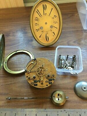 Old French Clock Movement For Spares Or Repairs