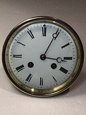 Vintage French 8 Day Striking Mechanical Movement For Parts