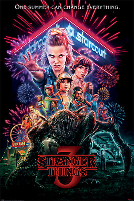 Stranger Things 3 Summer Of 85 Poster 91.5 X 61Cm  Maxi Poster New Official