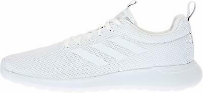 Adidas Mens Lite Racer CLN Fabric Low Top Lace Up, White/White/Grey, Size 8.5 tq