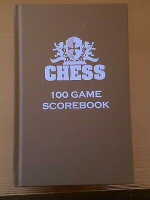Made in USA ! Candy Apple Red Hardcover Chess Scorebook