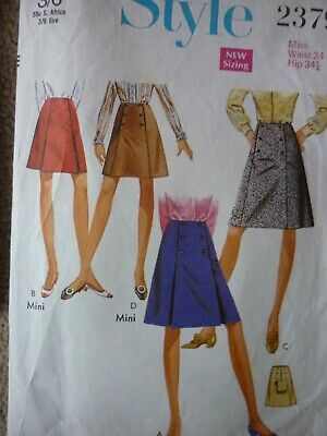 Vintage 1970'S Style A-Line Pleated Skirt Sewing Pattern