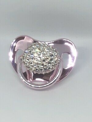 Romany Bling Baby Dummy Pink Metallic Soother Pacifier Comforter Sparkly