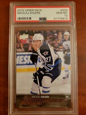 Nikolaj Ehlers 2015-16 Upper Deck Young Guns RC PSA 10