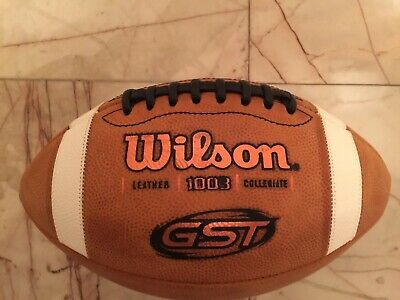 Wilson GST 1003 NCAA Leather Game Football Wtf1003 New No Box