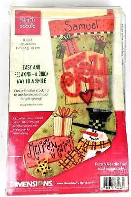 Dimensions Joy Stocking 83243 Christmas Punch Needle Tool INCLUDED Personalized