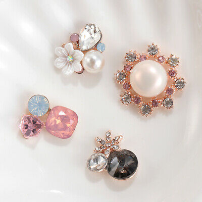 Accessories Pearl Buttons Rhinestone Button Apparel Sewing Flower Buckle
