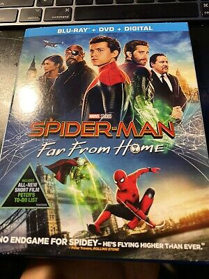 Spider-Man: Far from Home (Blu Ray + DVD No Digital), 2019 W/SLIP COVER