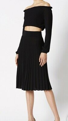 Scanlan Theodore Pleated Rib Skirt Size Small
