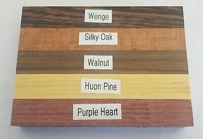 Nine wood pen blanks, woodturning, 15 different timbers to choose from.