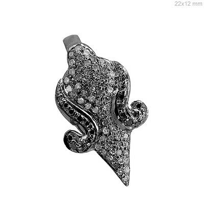 Antique Look Pave Diamond Arrowhead Pendant 925 Sterling Silver Fine Jewelry QY