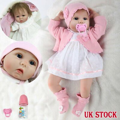 """55cm Real Life 22"""" Soft Silicone Vinyl Reborn Baby Dolls Lifelike Girl Toy Gifts"""