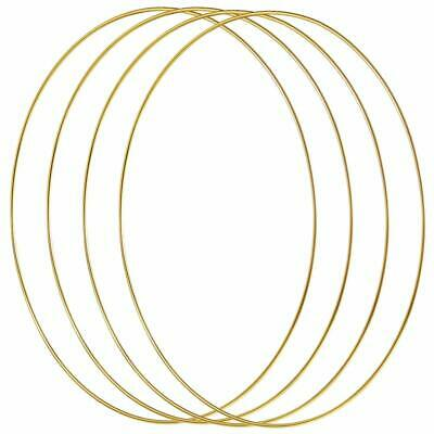 4 Pack 12 Inch Large Metal Floral Hoop Wreath Gold Hoop Rings for Making Wreath