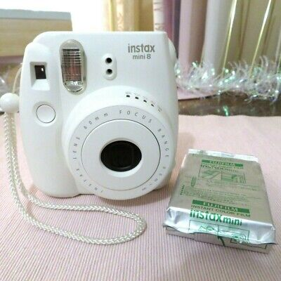 Fujifilm Instax Mini 8 Instant Film Camera - White (Includes Film & Hand Strap)