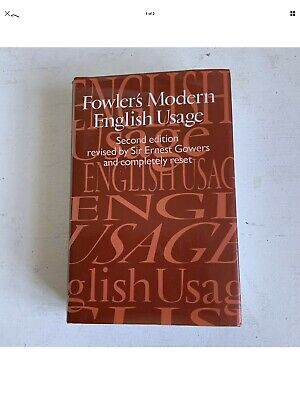 Fowlers Modern  English Usage Book