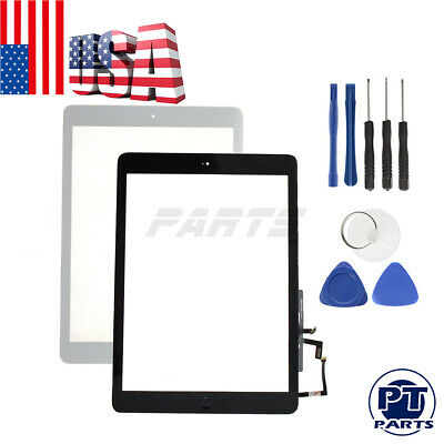 For iPad Air Screen Replacement 1st A 1474 1475 1476 Touch Digitizer+Home Button