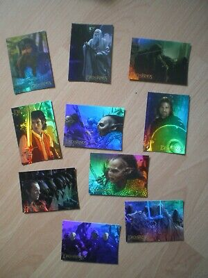 Lord Of The Rings, The Fellowship Of The Ring, Prismatic Foil Cards, Set Of 10