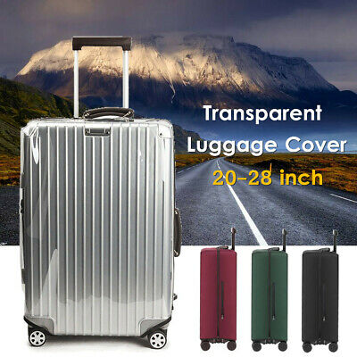 Clear PVC Elastic Luggage Cover Suitcase Dustproof Case Protector 20-28INCH