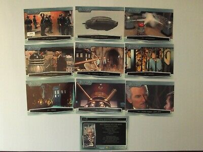 """Strictly Ink - Doctor Who  """"BIG SCREEN"""" L/E UK 10 Trading Cards promo set"""