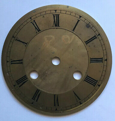 Vintage Unused Brass Dial For French Mantle Clock Movement