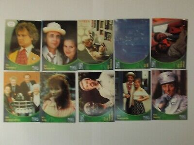 """Strictly Ink - Doctor Who  """"DEFINITIVE Dr WHO"""" L/E UK 10 Trading Cards promo set"""