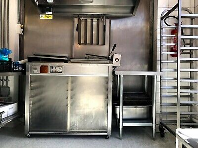 "Refurbished DCA half tray donut fryer, tray size 18""x15"" complete with 10 trays"