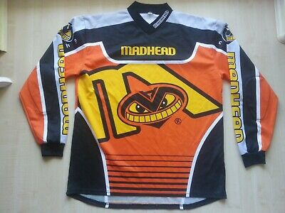 MADHEAD Motorrad-Sport-Bike-Motocross-Enduro-Shirt-Trikot L neuw.CRAZY ENOUGH ?