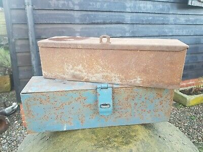 Vintage Tractor Tool Box boxes old tractor tool boxes x2