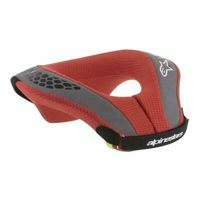 Alpinestars Sequence Youth Boys Body Armour Neck Brace - Black Red All Sizes