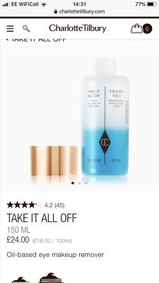 Charlotte Tilbury Take It All Off Genius Eye Makeup Remover 30ml
