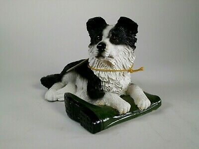 Regency Fine Arts Collectable Dogs - Awaiting His Master - Border Collie Mint