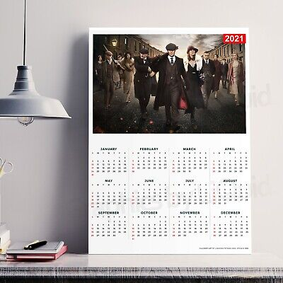 2020 Peaky Blinders Year Single Piece Calendar Planner Print   A4 A3 A2 A1  