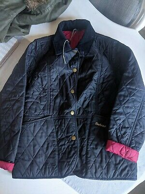 Girls Navy BARBOUR jacket, Size L, Age 10-11yrs, Immaculate